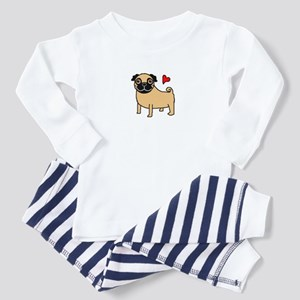 Fawn Pug Love Toddler Pajamas