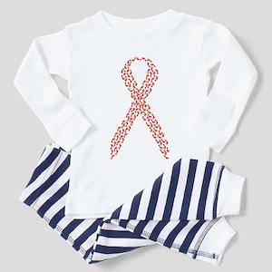 Red Ribbon Toddler Pajamas