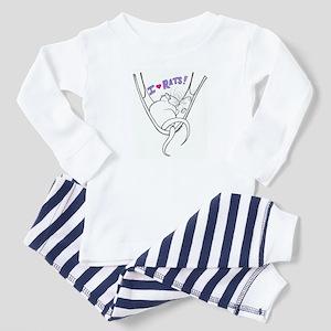 I Heart Rats Toddler Pajamas