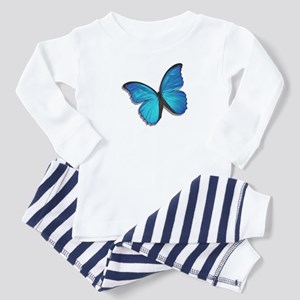 Blue Morpho Butterfly Toddler Pajamas