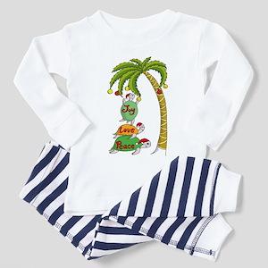 Hawaiian Christmas SantaTurtle Toddler Pajamas