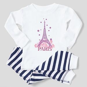 Flower Eiffel 03 Toddler Pajamas