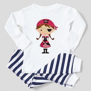 Pirate Girl in Red Toddler Pajamas
