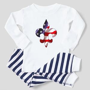 Fleur de lis Stars & Stripes Toddler T-Shir