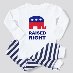 Raised Right GOP Toddler Pajamas