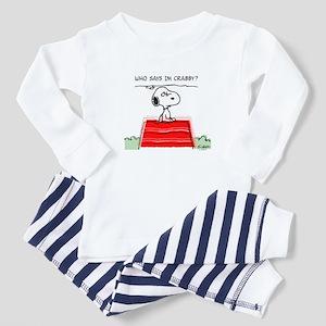 Crabby Snoopy Toddler Pajamas