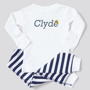 Clyde of Bonnie and Clyde Toddler Pajamas