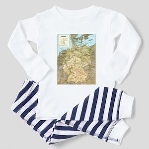 Germany Map Toddler Pajamas