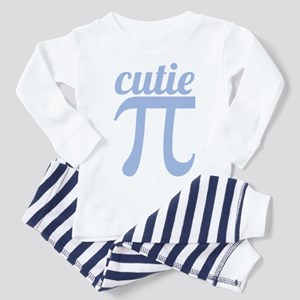 Cutie Pi Blue Toddler Pajamas