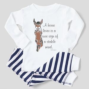 Bay Horse Lover Toddler Pajamas