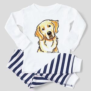 Golden Retriever Portrait Toddler Pajamas