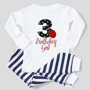 3 Ladybug Birthday Girl Pajamas