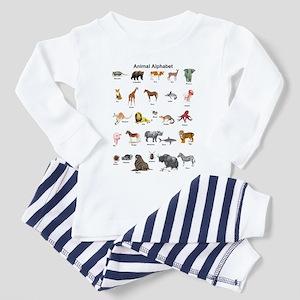 Animal pictures alphabet Toddler Pajamas