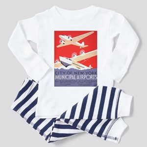 New York Municipal Airports Toddler Pajamas
