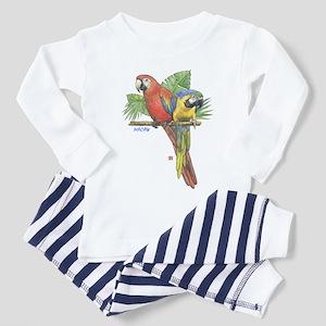 Tropical Macaws Ash Grey Pajamas