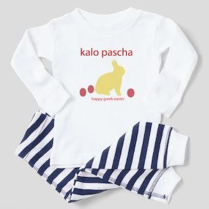 """""""HAPPY GREEK EASTER"""" Toddler Pajamas"""
