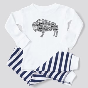 Buffalo Text Toddler Pajamas