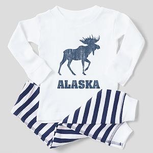 Retro Alaska Moose Toddler Pajamas