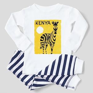 Kenya Travel Poster 1 Toddler Pajamas