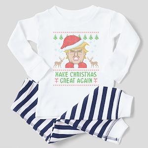 Trump Make Christmas Great Again Toddler Pajamas