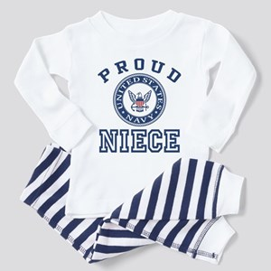 Proud US Navy Niece Toddler Pajamas