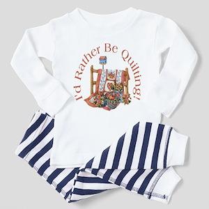 Rather Be Quilting Toddler Pajamas