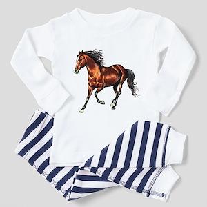 Cantering Bay Horse Toddler Pajamas