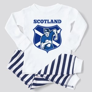 rugby scotland scottish Toddler Pajamas