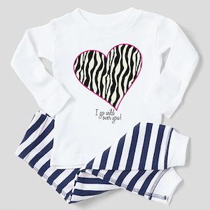 Zebra Wild Heart Toddler Pajamas