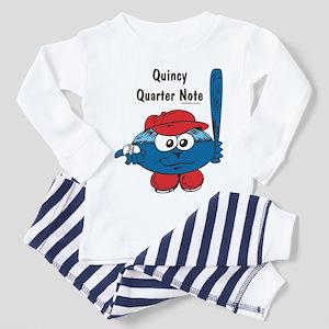 Quincy Quarter Note Toddler Pajamas