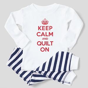 Keep Calm Quilt Toddler Pajamas