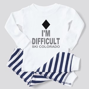 I'm Difficult Ski Colorado Toddler Pajamas