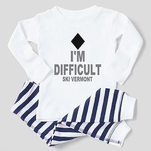 I'm Difficult ~ Ski Vermont Toddler Pajamas