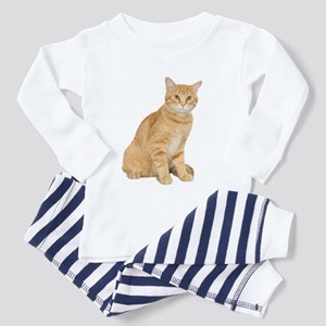 Yellow Cat Toddler Pajamas