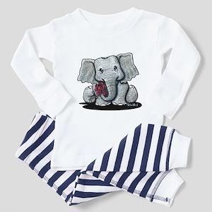 KiniArt Elephant Toddler Pajamas