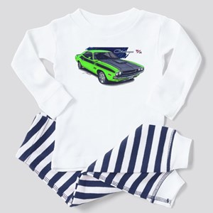 Dodge Challenger Green Car Toddler Pajamas