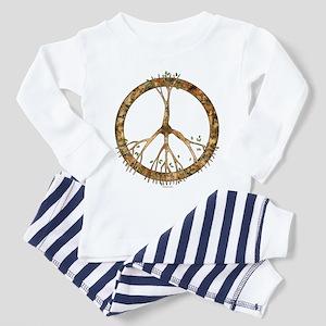 Peace Tree Toddler Pajamas
