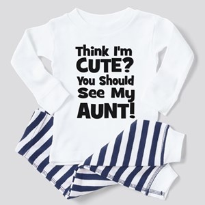 Think I'm Cute? Aunt - Black Toddler T-Shir