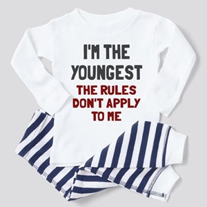 I'm the youngest rules don't apply Toddler Pajamas