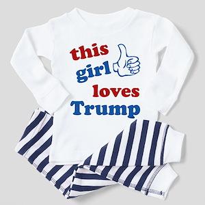 This girl love Trump Toddler Pajamas