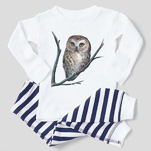 saw-whet owl dark shirt Pajamas