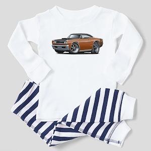 1968 Super Bee Brown Car Toddler Pajamas