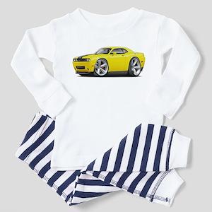 Challenger SRT8 Yellow Car Toddler Pajamas