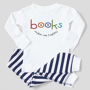 Books Make Me Happy Toddler Pajamas