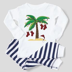 Tropical Christmas Toddler Pajamas