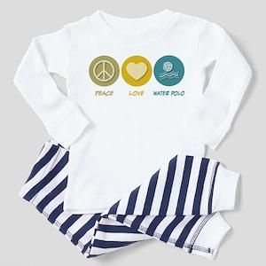 Peace Love Water Polo Toddler Pajamas