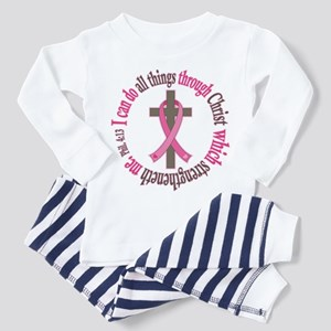 Phil 4:13 Breast Cancer Toddler Pajamas