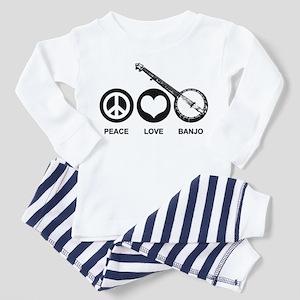 Peace Love Banjo Toddler Pajamas
