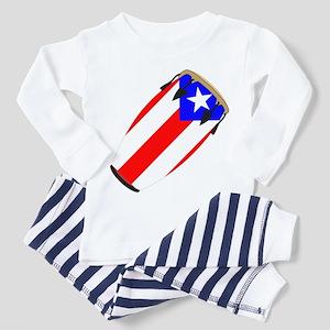 Conga Puerto Rico Flag Toddler Pajamas