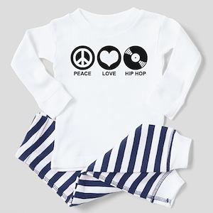 Peace Love Hip Hop Toddler Pajamas